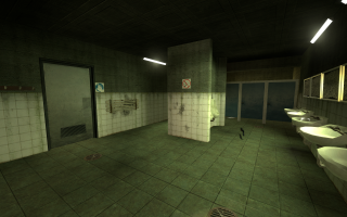 Screenshot of Facility's bathroom from Beta 1.0.